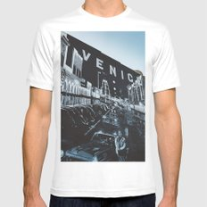 Venice Beach White MEDIUM Mens Fitted Tee