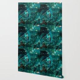 Cracked Teal Sugar Wallpaper