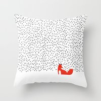 grass Throw Pillows featuring Black grass by Robert Farkas