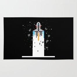 Spaceship Timeline | Galaxy Rug
