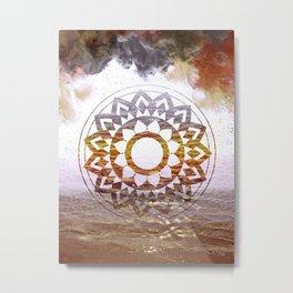 Nature Mandala Atmospheric Metal Print