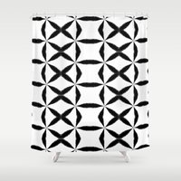 xoxo Shower Curtains featuring XOXO by Julie Maxwell