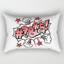 Pop Art Curse Word Rectangular Pillow