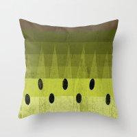 kiwi Throw Pillows featuring Kiwi by Kakel