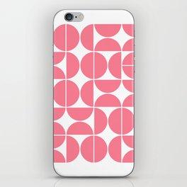 Mid Century Modern Geometric 04 Pink iPhone Skin