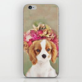 Blossom Puppy Portrait iPhone Skin