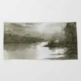 A Splash of Sepia Beach Towel