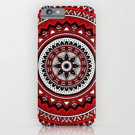 Red and Black Mandala iPhone Case