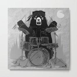 Bad Bear Band Metal Print