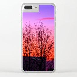 Concept landscape : city sunset Clear iPhone Case