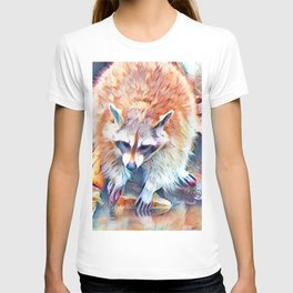 Aquarell Raccoon T-shirt