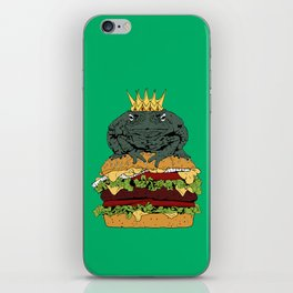 King of Burgers Green iPhone Skin
