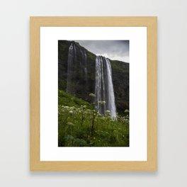 Icelandic Waterfall Framed Art Print