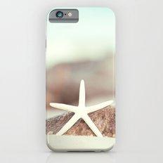 Starfish Beach Photography, Aqua Coastal Seashore Photo iPhone 6s Slim Case