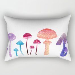 Mystical Mushrooms - a collection of toadstools Rectangular Pillow