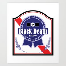 Black Death Ribbon (Color) Art Print
