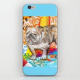 Bulldog pop art iPhone Skin