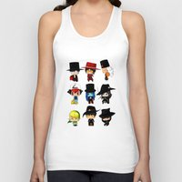 anime Tank Tops featuring Anime Hatters by artwaste
