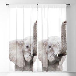 Baby Elephant Portrait Blackout Curtain