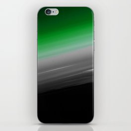 Green Gray Black Ombre iPhone Skin