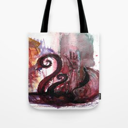 Dragged under by a giant Clam Tote Bag