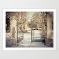 narnia Art Prints featuring To Narnia by Oh, Good Gracious!