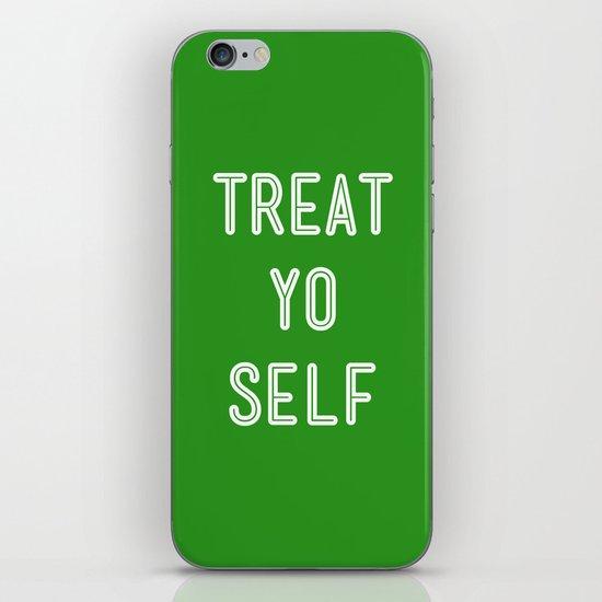 Treat Yo Self Green - Parks and Recreation iPhone & iPod Skin