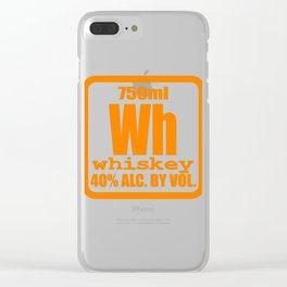 """""""Periodic Whiskey"""" tee design. Awesome and unique fabulous gift to your family and friends!  Clear iPhone Case"""