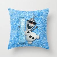 lannister Throw Pillows featuring SNOW MAN OLAF by BeautyArtGalery