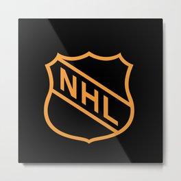 NHL Gold Logo Metal Print