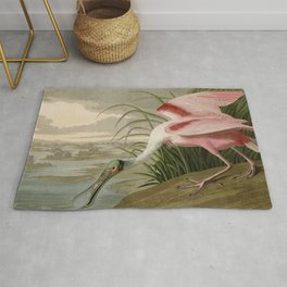 Roseate Spoonbill from Birds of America by John James Audubon Rug