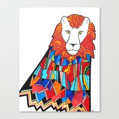 Lion Tamed Canvas Print