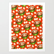 Hot Cocoa Pattern Art Print