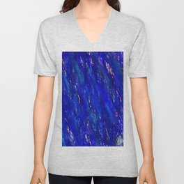 Color gradient and texture 31 dark blue Unisex V-Neck
