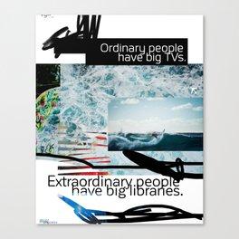 Ordinary - Extraordinary people scribble Canvas Print