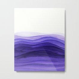 Ultra violet waves Metal Print