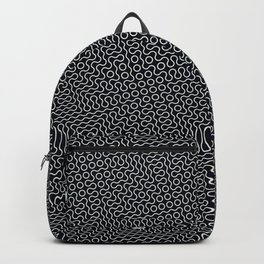 Black and white wavy lines Backpack