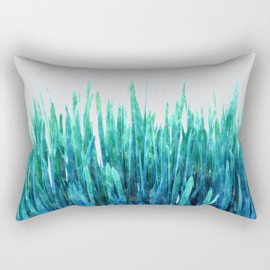 Glowing Grass #society6 #decor #lifestyle Rectangular Pillow