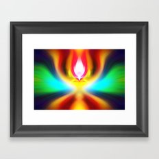 When the sands of time find you dawdling...falling into colour is easy Framed Art Print
