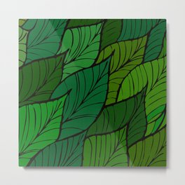 Lush / Leaf Pattern Metal Print