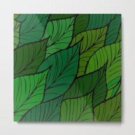 Lush / Leaf Pattern Metal Print
