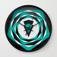 arya Wall Clocks featuring Decahedron Hexagon combined! by Hinal Arya