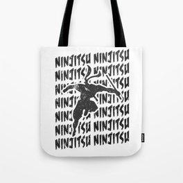 Ninjutsu Repeat Ninja Martial Arts Training Black Tote Bag