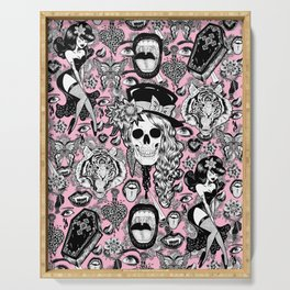Pink Halloween Serving Tray