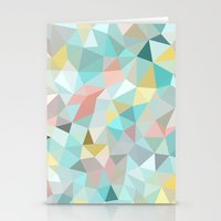 pastel Stationery Cards featuring Pastel Tris by Beth Thompson