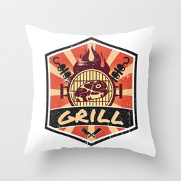 Barbecue BBQ Propaganda Throw Pillow