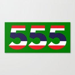 555  Thai flag Canvas Print