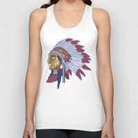 indiana Tank Tops featuring indiana by Hugo Tunes