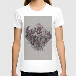 Starlings and Iris Field T-shirt