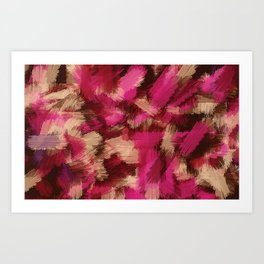 pink purple and black painting texture abstract background Art Print